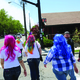 Girls with creatively colored hair walk from one pub to the next during the 2nd Annual Sugar House Pub Crawl on Saturday, May 21. – Jeremy Higginson