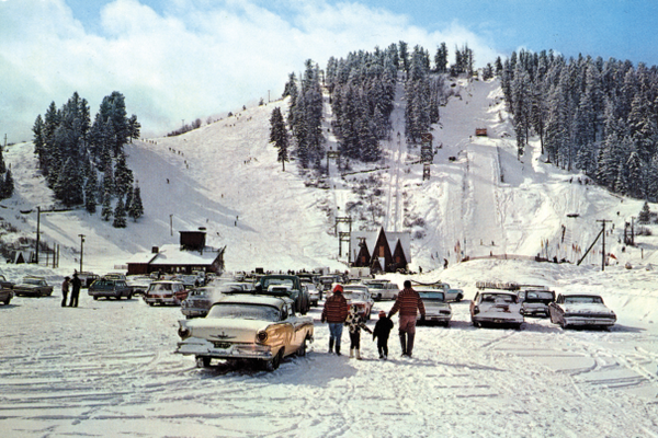 In the 1960s, Howelsen Hill still drew locals despite the opening of Storm Mountain, later renamed Mount Werner. Howelsen Hill is the oldest, continuously operating ski area west of the Mississippi. Photo courtesy Tread of Pioneers Museum and D. Digerness.