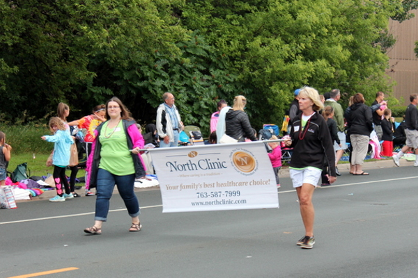 Nprth Clinic at the 2016 Maple Grove Days Pierre Bottineau Parade along 89th Avenue Thursday, July 14