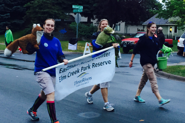 Three Rivers Parks at the 2016 Maple Grove Days Pierre Bottineau Parade along 89th Avenue Thursday, July 14