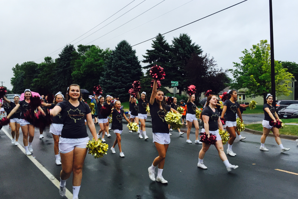 Maple Grove Dance Team at the 2016 Maple Grove Days Pierre Bottineau Parade along 89th Avenue Thursday, July 14