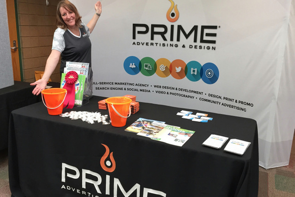Prime Advertising at the Maple Grove Days Business Expo 2016. (photo by Wendy Erlien)