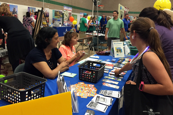 Maple Grove Library at the Maple Grove Days Business Expo 2016. (photo by Wendy Erlien)