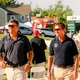 Boyd Martin and Phillip Dutton prepare to walk the course at the recent Nations Cup Photo by Cindy Lawson