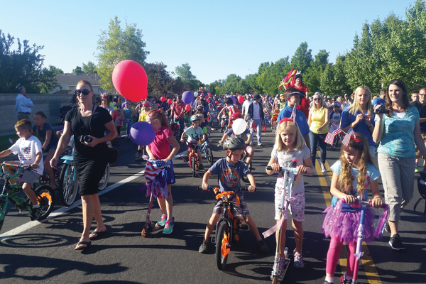 During the Children's Bike Parade, kids rode their newly decorated bikes and scooters. —Kelly Cannon