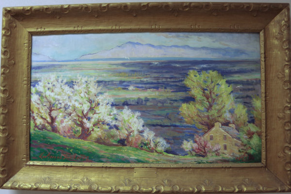 """Spring Fantasies"" was the first piece of the Draper Elementary's art collection purchased by Principal Reid Beck from the Springville Art Show. It was painted by Salt Lake City artist LeGreen Richards. — Julie Slama"