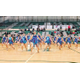 Hillcrest High School region and state champion drill team performs on their home court. New members have been added and the team has averaged 20 hours of practice per week this summer. — Hillcrest High School