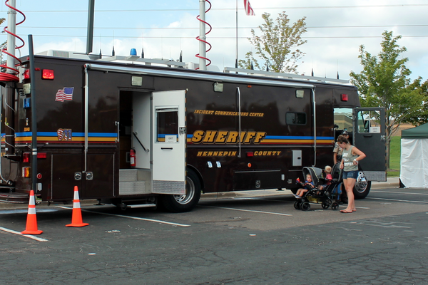 Hennepin County Sheriffs Office at the Maple Grove National Night Out Kickoff Aug. 2, 2016 at the Maple Grove Community Center. (photo by Wendy Erlien)