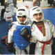 Mary and her sister ready to spar.