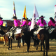 Rodeo Royalty Line up for the Flag Ceremony (photo by Mylinda LeGrande)