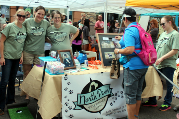 Northern Paws Veterinary Clinic at Woofstock, presented by Good Karma Animal Rescue of MN, at The Shoppes at Arbor Lakes Aug. 6, 2016. (photo by Wendy Erlien)