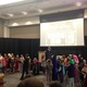 """:Chris Colfer, author of the """"Land of Stories"""" series, holds a costume contest of participants at an event at the Viridian Event Center in West Jordan. –Mylinda LeGrande"""