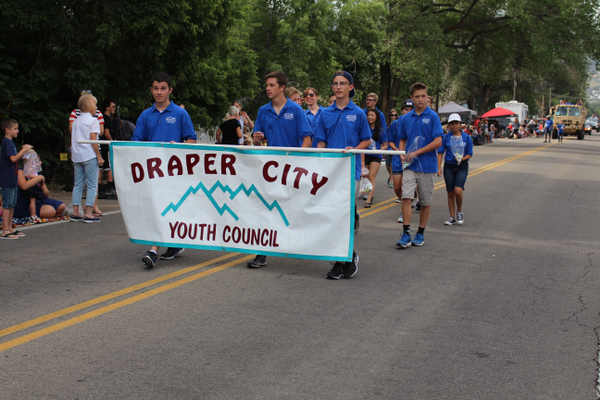 The youth council walk in the Draper Days Parade. —Caroline Sagae
