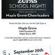 Maple Grove Cheerleaders Fundraiser  Cafe Zupas - start Sep 20 2016 0500PM