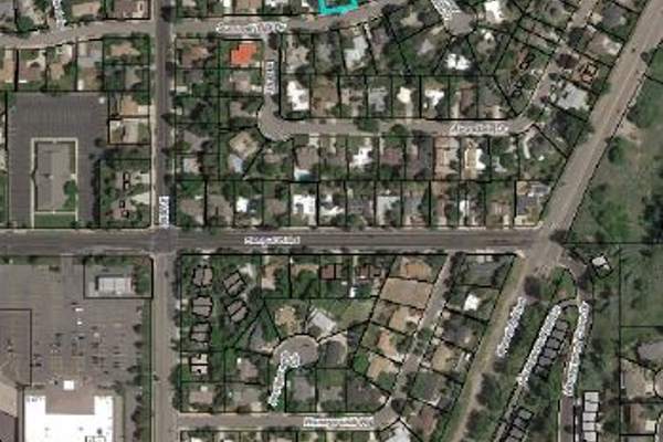 Aerial view of the neighborhood discussed. –Brian Berndt.