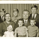 Josephine, Dick and the Arons clan. Back row from left, Rick, Tom, Scott, front row; Katie, Paul and Curt.