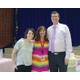New Liberty Elementary Principal Jill Burnside and former Liberty Elementary Principal Darren Dean say good-bye to sixth-grade teacher Judy Mahoskey at her retirement party. She taught at Liberty for 33 years. — Julie Slama