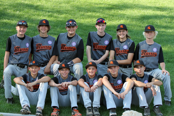 The Murray Spartans made it to the fourth round of the tournament before losing 12-1 to the Reedley California team. Top row left to right: Jaxon Konishi, Ryan Wolfe, Ryan King, Ben Beal, Chris Thompson, Davis Foster. Bottom row left to right: Noah Hardman, Jaden Durfee, Mitch Valez, Sony Smith, Nick Cooper. (Craig Lake/Murray)