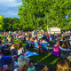 People flooded the Midvale Outdoor Stage in the Park to watch Alex Boye and Taylor Hicks perform during the Midvale Harvest Days. –Midvale Arts Council