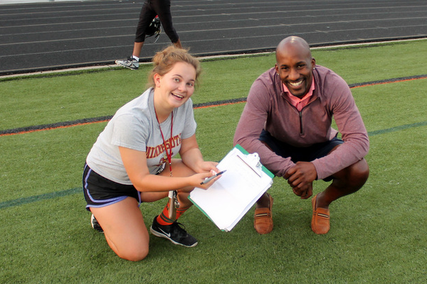 Osseo Principal Michael Lehan takes in Osseo Football Association Showcase (Photo By: Doug Erlien)