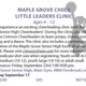Maple Grove Little Leaders Cheer Clinic - start Sep 08 2016 0900AM