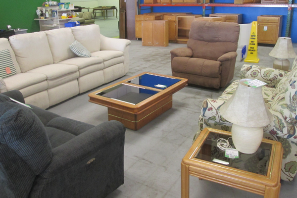 Sofas and other furniture are available at the Middletown ReStore.