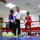 Leonardo Sanchez Salazar (right) is named winner after his boxing match at the Pete Suazo Boxing Invitational on Aug. 19. The event was presented by the South Salt Lake Police Activities League at the Central Park Community Center. –Travis Barton