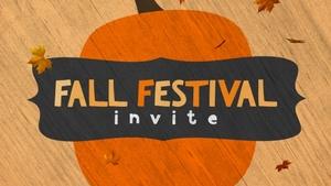 Medium fall festival invite