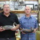 Allen Linkchorst left and Bill Ethington hold decoys in Ethingtons Columbus workshop Sept 26 2016 Staff photo by Samantha Sciarrotta