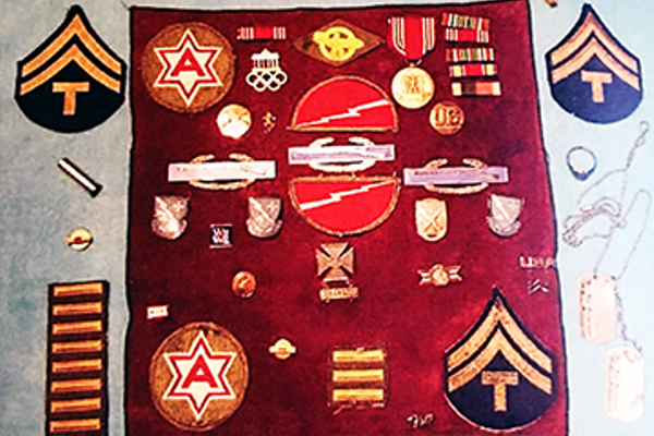Phil Andersen's medals and citations from the war. Barbara Andersen/resident