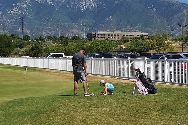 """This is the amazing thing about Mulligan's—a professional golfer can golf there and a 3-year-old girl can go with her dad and golf there,"" resident Janalee Tobias said. (Janalee Tobias/South Jordan Resident)"