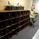 Bingham High School sophomore Bryson Rasmussen saw a need at his middle school, Elk Ridge Middle, and with the help of others, reorganized the theatre department's tech room, including building shelving. (Christine Rasmussen/parent)