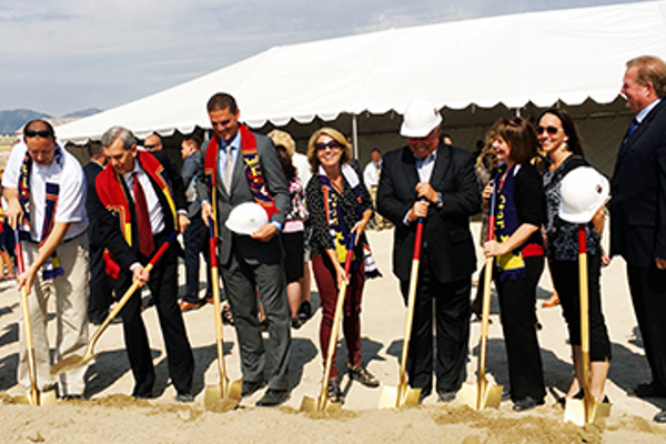 Herriman City officials ceremonially break ground on the Real Salt Lake Herriman-based soccer training facility on Sept. 23. (Tori La Rue/City Journals)