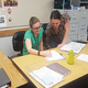 A new teacher and mentor teacher collaborate at Herriman High School. (Gina Walker/Herriman High School)