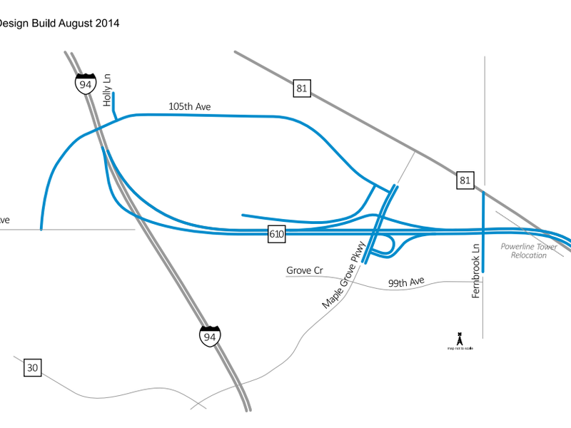Weekend Westbound I-94 Lane Closures at New Highway 610