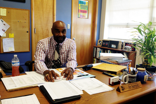 Ike Spencer was an assistant principal at Skyline and Hunter High Schools before becoming a principal at West Lake Jr. High and now at Valley Jr. High. (Travis Barton/City Journals)