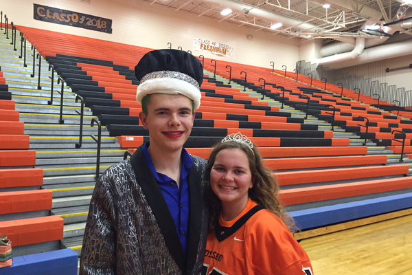 2016 OSH Homecoming royalty Adam Larson and Erin Donaldson. (photo by Wendy Erlien)