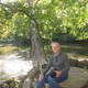 Photographer Bob Lott on the river near the Brandywine River Museum of Art in Chadds Ford