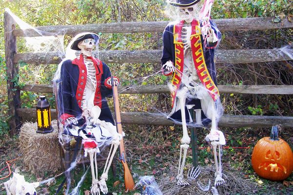 Spooky thrills await visitors to the Haunted Trail.