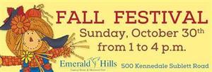 Emerald Hills Fall Festival - start Oct 30 2016 0100PM
