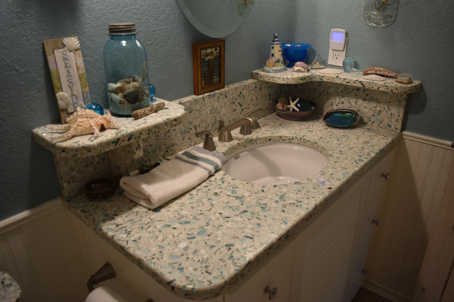 Gallery: Recycled Glass Countertops Are A Sustainable Option [5 Images]  Click Any Image To Expand.