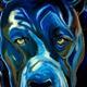 "Brazell's work ""Dog."" (Lisa O'Bryan/Holladay Arts Council)"