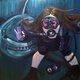 "Brazell's work ""Shark!"" (Lisa O'Bryan/Holladay Arts Council)"