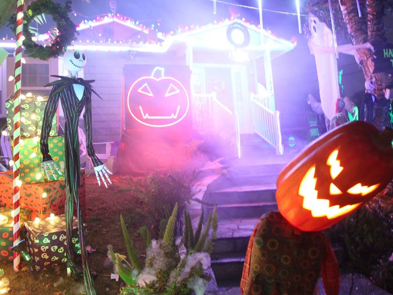 nightmare before christmas light show moves to 18th street - Nightmare Before Christmas Lights