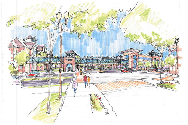 A concept image of the what the West Jordan City Center Project that's planned for the 13-acres across Redwood Road from the West Jordan City Hall may look like. (West Jordan City)