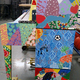 The piano was painted in folk art style. (Deborah Hansen/Fox Hollow Elementary)