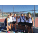 The girls tennis team at Highland High School stop for a photo. The team had four players qualify for the 4A state tournament. (Jeanine Elsholz/Highland Girls Tennis)
