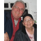NHCO Free Rides for Seniors shuttle driver Jim Kane with Lois
