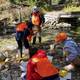 During their three-day session at Teton Science School, students spent time measuring the health of a stream. (Patrick Reeder/St. John the Baptist Middle School)