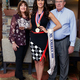 Former Ms. America Julie Harman, center, with her parents, Dan and Janis Harman, after an interview with the Midvale City Journal on Oct. 21, 2016. (The City Journals/Chris Larson)
